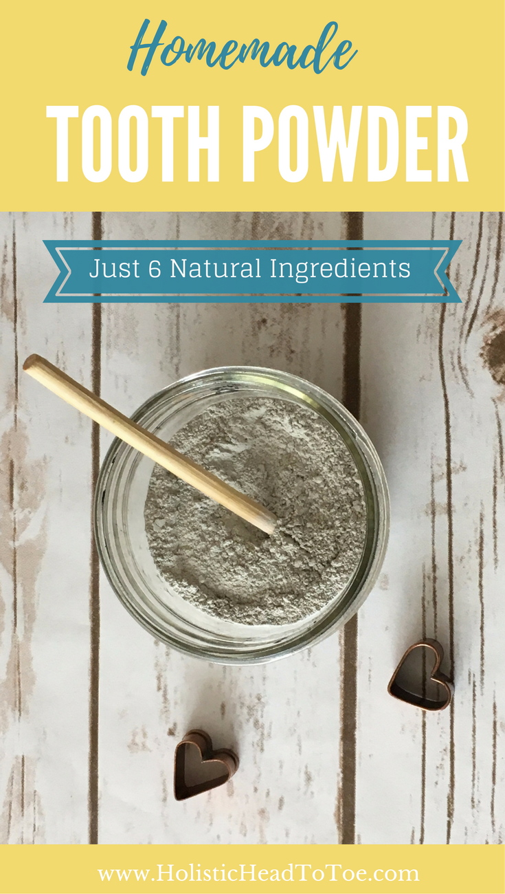 Try this non-toxic homemade tooth powder recipe -- just 6 natural ingredients!
